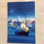 優しい色使いに癒されます。半田正子さんポストカード