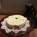年末のケーキ。レモンの香りが漂います